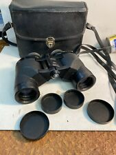 New listing Bushnell Sportview Binoculars Hard Case Japan Vintage In Black carry strap 7x35
