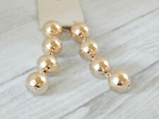 LONG EARRINGS BALLS GOLD PLATE DANGLE 4 TIERS ANTHROPOLOGIE NEW TAG FUN $38