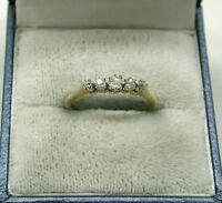 Beautiful Vintage 18ct Gold And Platinum Five Stone Diamond Ring