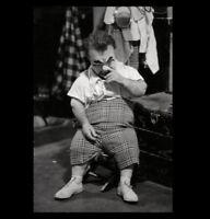 Vintage Circus Clown Midget Dwarf PHOTO Circus Freak Sideshow Halloween Freaks