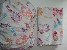 COMPANY STORE KIDS girls Make-Up Beauty Jewelry 2 pc Flat / Fitted Sheet Twin SZ