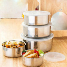 5 piezas cocina acero inoxidable Recipiente almacenaje Bol juego antideslizante