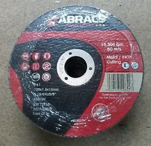 ABRACS Proflex 115mm (4.5'') x 6mm Dpc Grinding Discs PKT100