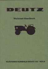 Werkstatthandbuch Deutz Trakor Schlepper für F1L514/50 .