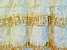 SO Girls Holiday Sequin Shiny Christmas Ruffle Skirt Size M 10-12 New