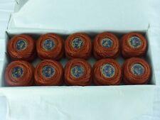 DMC boite 10 pelotes de 10 grammes COTON PERLE 5 N° 019 brun marron ,art 116