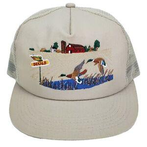 DeKalb Seed Vintage Snapback Farm Cap Trucker Hat Mallard Ducks K-Products USA