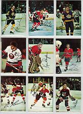 1977-78 O-PEE CHEE HOCKEY GLOSSY SQUARE CORNERS COMPLETE SET OF 22