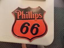 OLD vintage look PHILLIPS 66 OIL GAS EMBOSSED METAL SIGN NEW