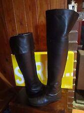 womens SPORTSGIRL OTK  style black leather boots SZ 7