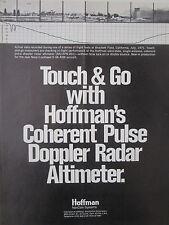 1/1973 HOFFMAN NAVCOM SYSTEMS TOUCH & GO DOPPLER RADAR ALTIMETER FLIGHT TEST AD
