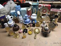 LOT OF 28 Avon Perfume Cologne Decanter Bottles