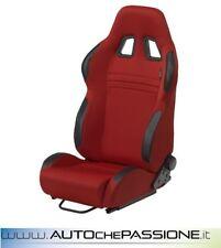 Sedile Sportivo Type T Eco reclinabile  Colore Nero e Rosso