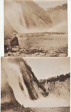 Orig Photo LOT of 2 - Montmorency Falls 1907  -  Quebec City Canada IDd