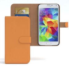 Tasche für Samsung Galaxy S5 / Neo Case Wallet Schutz hülle Cover orange