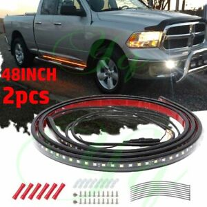 """48"""" Running Board LED Light Strip Side Step Bar For Chevy Dodge GMC Jeeps Truck"""