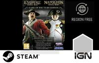 Empire and Napoleon Total War Collection GOTY Edition [PC] Steam Download Key