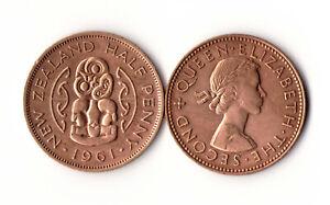 New Zealand - Half Penny 1961 XF