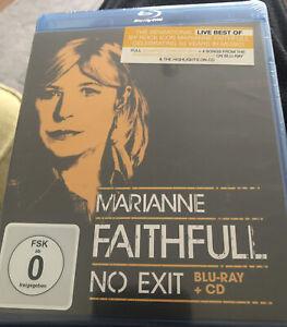 MARIANNE FAITHFULL - NO EXIT BLU-RAY+CD NEW Sealed Free Post U.K.