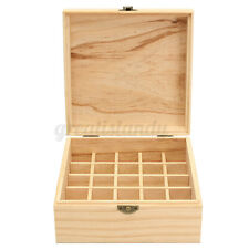 25 Slots Aromatherapy Essential Oil Wooden Storage Box Container Holder USA