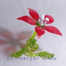 Fleur fait main de verre coloré, pour Décor Maison Mariage Fête. Diamètre 8 cm