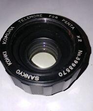 Sankyo khoki komura Telemore X2 Teleconverter for Pentax M42 camera lens