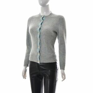 Brooks Brothers Womens Short Sweater Button Up 100% Wool Knitted Cardigan Large