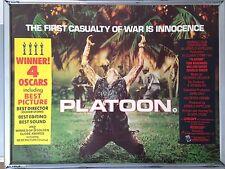 Cinema Poster: PLATOON 1986 (Quad) Willem Dafoe Tom Berenger Charlie Sheen
