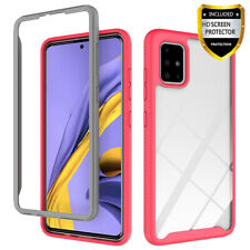 For Samsung Galaxy A51 A71 Clear Phone Case Armor Cover /Glass Screen Protector