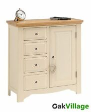Rosehill Painted Oak Linen Cupboard / Laundry Chest / Storage Unit / Sideboard