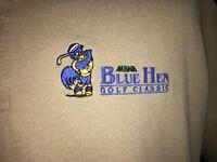 Blue Hen Golf Classic Vantage Khaki Cotton Polo Shirt Mens Large USA made MBNA