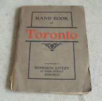 Vintage 1906 Booklet Handbook of Toronto - Dominion Livery