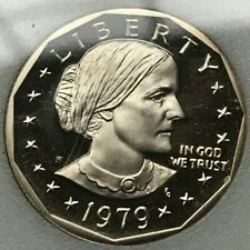 1979 S Susan B Anthony Dollar Proof - Type I (Filled S)