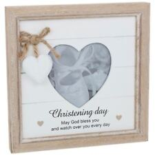 Christening May God Bless You Every Day Wooden Shabby Chic Photo Frame Pr51564