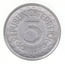 Austria 5 Schilling 1952 alunimium Moneda-Águila Imperial con la hoz y martillo