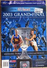 AFL 2003 GRAND FINAL RECORD BRISBANE v. COLLINGWOOD