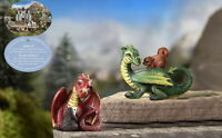 Miniature Fairy Garden Medieval Times Green and Red Dragon Figurines