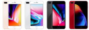 Apple iPhone 8 Plus - 256GB AT&T Gold Silver Gray Red C stock Unlocked