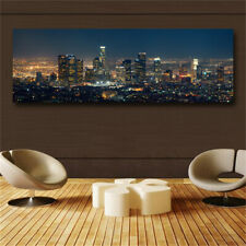 .Canvas Painting wall art poster Abstract city night painting Picture Print wall