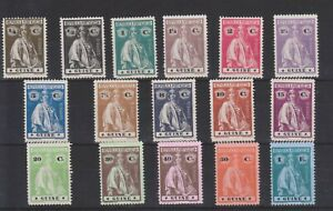 b1281 PORTUGUESE GUINEA 1914 Mint hinged Ceres set of 16 SG.168/83