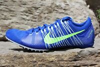 17 New Nike Zoom Victory 2 Track Spikes Royal Blue/Lime Sz 11-12 555365 431