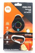 Motorola PEBL330 Personal LED UV Sensor White LED with Carabiner
