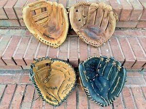 "4 Rawlings Wilson 13""- 13.5 softball baseball first base Glove Lot R-H A9820 000"