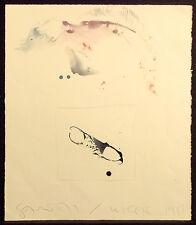 "Scott Sandell ""Winter 1986"" Signed Original Watercolor Painting on Paper, fish"
