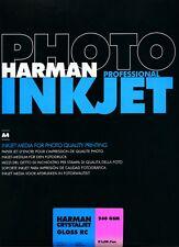 Harman Photo Crystaljet Inkjet A4 Gloss Photo Paper 260gsm 250 Pack