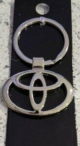 Toyota Car Logo Keyring Metal Key Ring Silver Key Chain