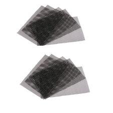 10 x en plastique noir drain de feuille de maille de caillebotis coupable