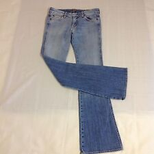 7 Seven For All Man Kind Size 27 x 33  A Pocket Pink Stitch Boot Cut Jeans USA