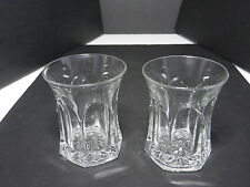 "Jefferson Krys-Tol Chippendale Tumblers 2 Clear Crystal 3 3/4"" T ca1907-20s"