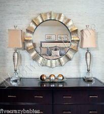 """41"""" Designer Silver SUNBURST Wall Mirror Round Vanity Champagne Contemporary"""